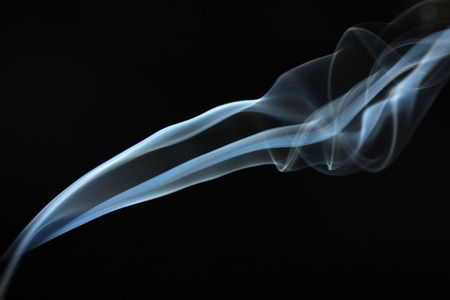 Abstract smoke on black  background photo