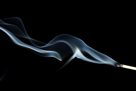 black smoke: Abstract smoke on black  background Stock Photo