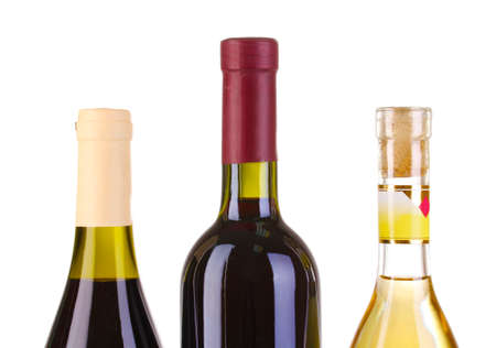 Bottles of great wine isolated on white Stock Photo - 12912460