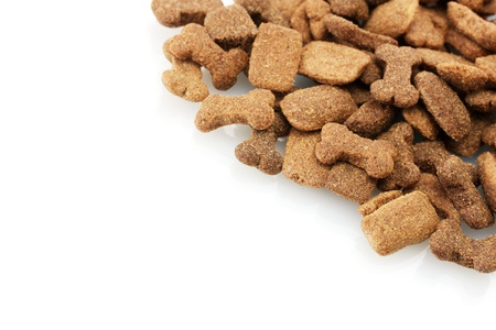 dry dog food isolated on white Stock Photo - 12914321