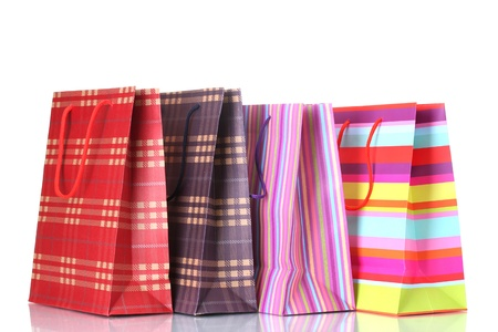 bright shopping bags isolated on white Stock Photo - 12914842