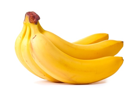 banana: Bunch of bananas isolated on white Stock Photo