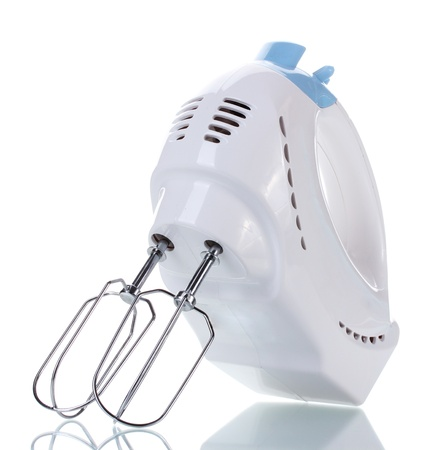 electric mixer isolated on white  photo