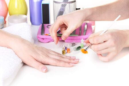 Manicure process in beautiful salon Stock Photo - 13083839