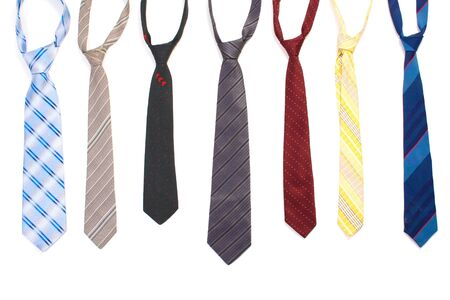 coat and tie: ties isolated on white