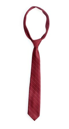 ironed: Elegant red tie isolated on white