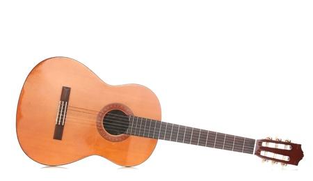 retro guitar isolated on white photo