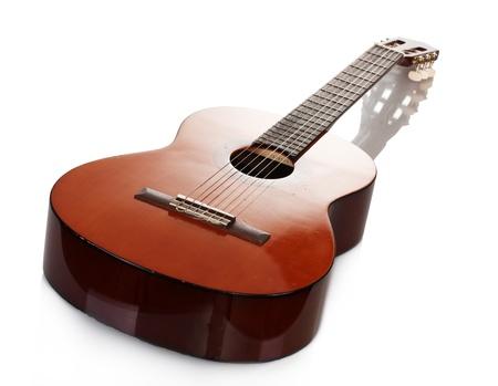 retro guitar isolated on white Stock Photo