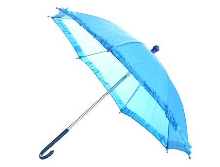 Blue umbrella isolated on white Stock Photo - 13082776