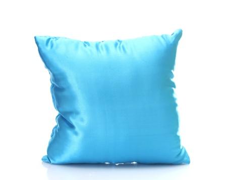 Kussen Wit 6 : Blauwe bright kussen op wit wordt geïsoleerd royalty vrije foto