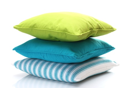 bright pillows isolated on white Stock Photo - 13085310