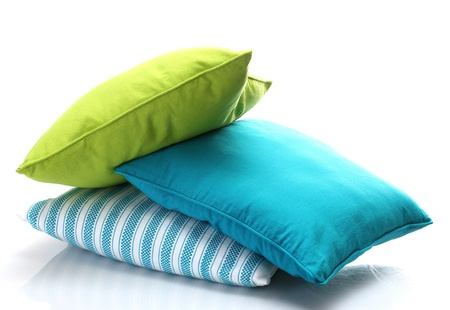 bright pillows isolated on white