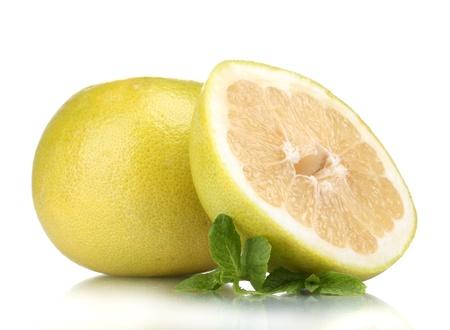 freshest: Pomelo or Chinese grapefruit isolated on white