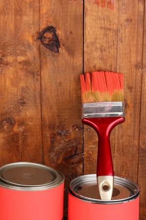 Painting wooden fence Stock Photo - 13179349