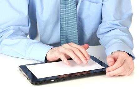 businessman working with a tablet computer Stock Photo - 13223629