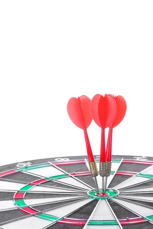 dart board with darts isolated on white Stock Photo - 13223507