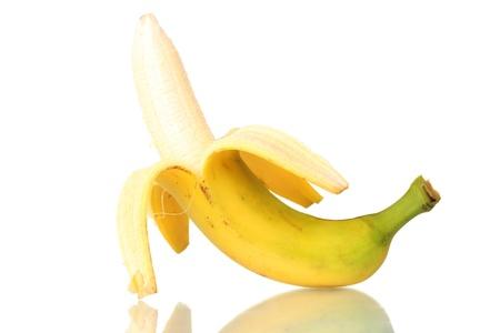 banana peel: yummy banana isolated on white