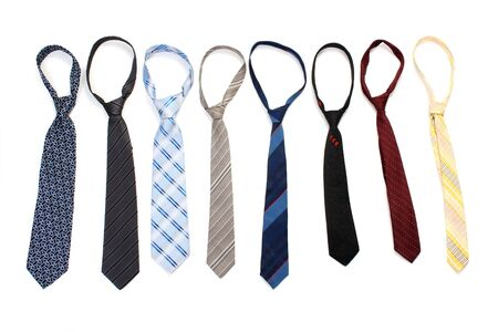 ties isolated on white Stock Photo - 13268094