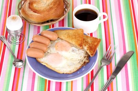 eggcup: Classical breakfast Stock Photo