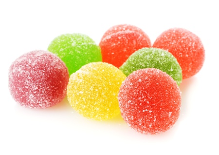 gum: colorful jelly candies isolated on white Stock Photo