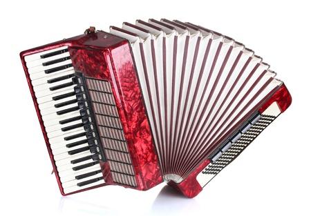 accordion: Retro accordion isolated on white Stock Photo