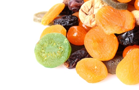 Dried fruits isolated on white Stock Photo - 13373815