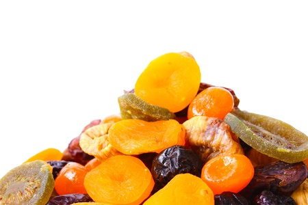 Dried fruits isolated on white Stock Photo - 13374183