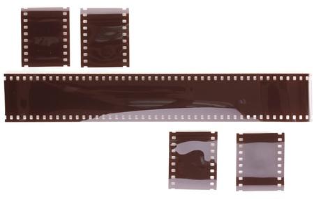 Photo film isolated on white photo