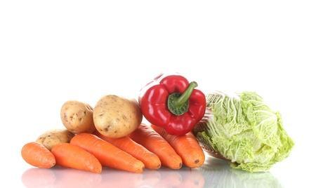 Fresh vegetables isolated on white Stock Photo - 13374747