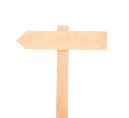 Wooden signboard isolated on white Stock Photo - 13375030