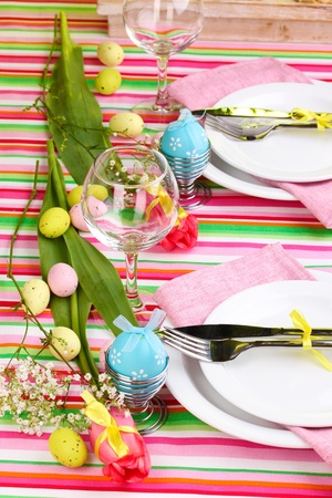 Easter table setting photo