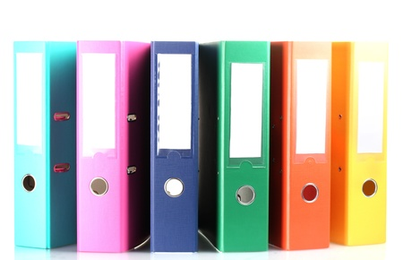 Office folders isolated on white Stock Photo - 13517840