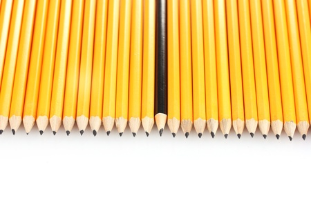 sharpen: lead pencils isolated on white