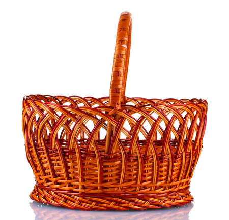 Empty wicker basket isolated on white Stock Photo - 13517738