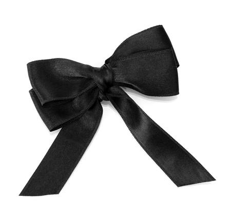 black ribbon bow: black ribbon bow isolated on white