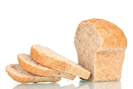 tasty sliced white bread isolated on white Stock Photo - 13580399