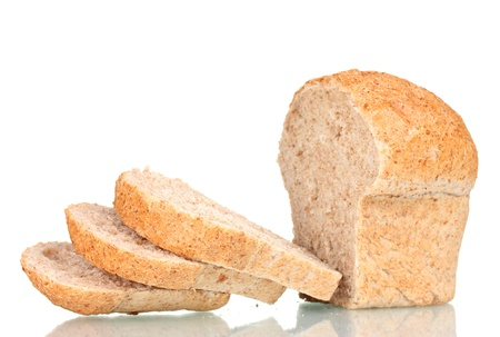 tasty sliced ​​white bread isolated on white Stock Photo - 13580399