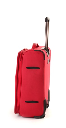 Red suitcase isolated on a white Stock Photo - 13664712