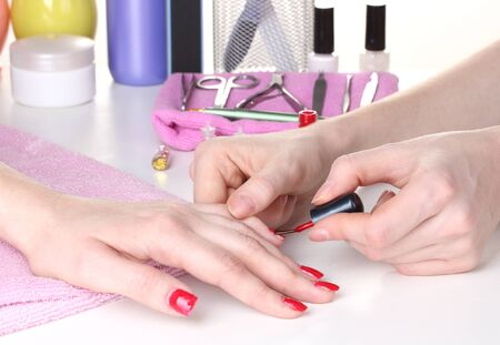 Manicure process in beautiful salon Stock Photo - 13666009