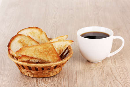Classical breakfast. Coffee and toasts photo