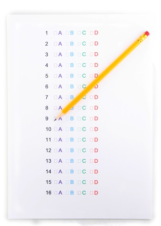 A, B, C, D test close-up Stock Photo - 13664639