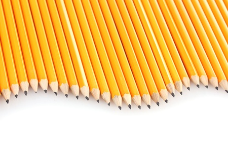 lead pencils isolated on white photo