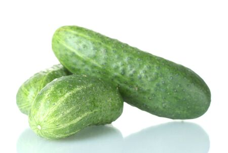 Cucumbers isolated on white Stock Photo - 13664773