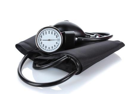 blood supply: Black tonometer isolated on white Stock Photo