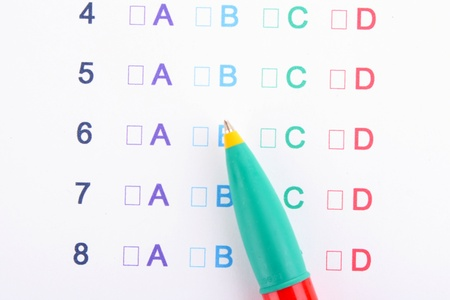 A, B, C, D test close-up Stock Photo - 13790891