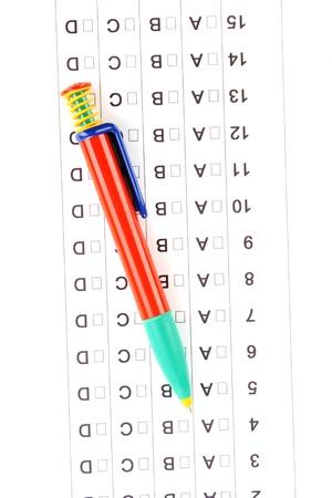 A, B, C, D test close-up Stock Photo - 13790854