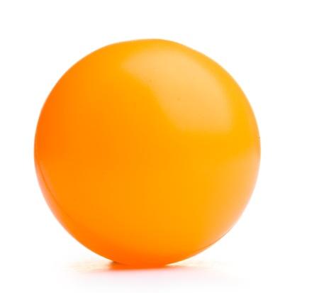 tischtennis: Ball isoliert auf wei�