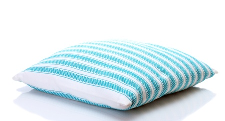 striped bright pillow isolated on white Stock Photo - 13792965