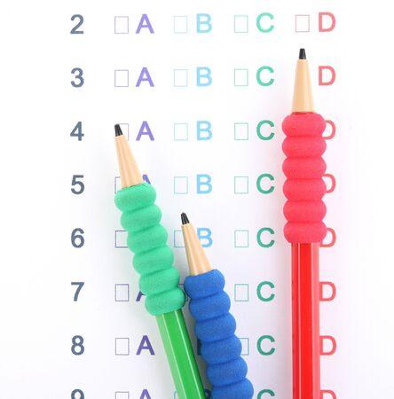 A, B, C, D test close-up Stock Photo - 13818149