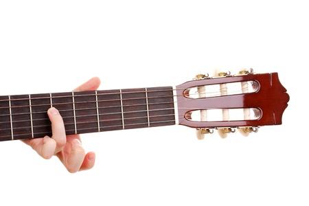Guitar fretboard isolated on white Stock Photo - 13818777